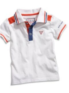 GUESS Kids Boys Polo Shirt with Striped Trim (12 24m