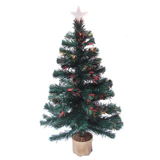 Multicolor 3 foot Fiber Optic Christmas Tree with 90 Fiber Optic Tips