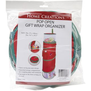 Pop Open Christmas Gift Wrap Organizer