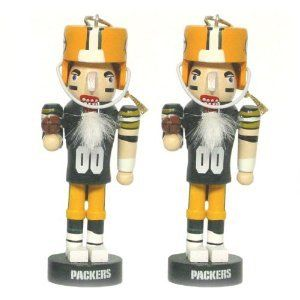 Green Bay Packers NFL Mini Nutcracker Christmas Ornament