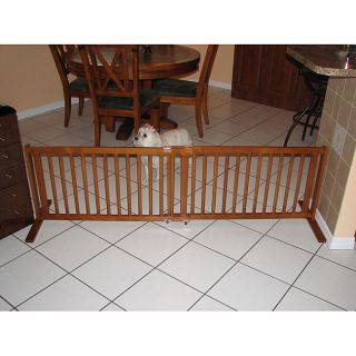 Crown Pet 21 All Wood Pet Gate  Large Span 40 to 74.5 Chestnut