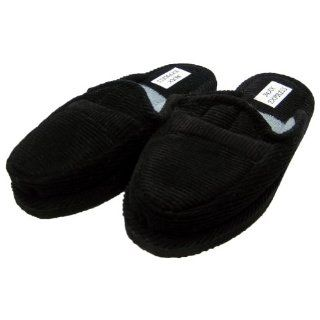 Black Corduroy House Shoes Open Back Indoor & Outdoor House Slipper
