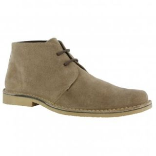 Roamers Mens M618 Sand Suede New Mens Desert Boots Shoes Shoes
