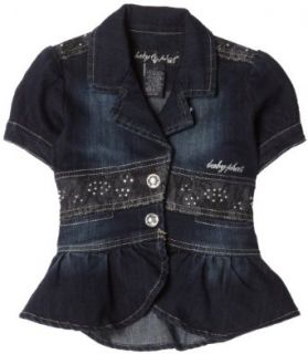 Baby Phat   Kids Girls 2 6x Baby Phat Short Sleeve Denim