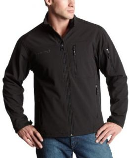 Free Country Mens Soft Shell Jacket,Black,Medium