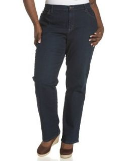 Lee Womens Plus Plus Relaxed Straight Leg Jean,Mystic
