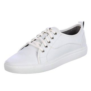 Steve Madden Mens Corsair White Leather Sneaker