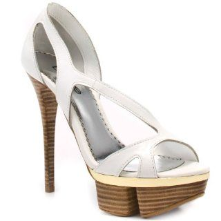 Bebe Shoes Amy   White Leather Bebe Shoes Shoes