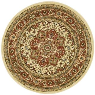 Lyndhurst Collection Ivory/ Rust Rug (53 Round)