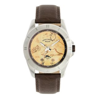 Tommy Bahama Relax Mens Island Hooper Buffalo Leather Strap Watch