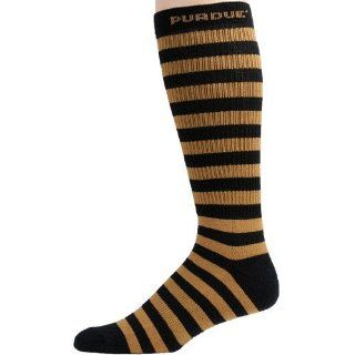 NCAA Purdue Boilermakers Gold Black Striped Tall Socks