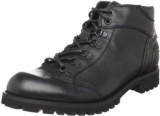 Steve Madden Mens Shivver Boot,Black Leather,7 M US Shoes