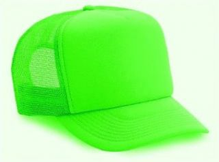 Neon Mesh Trucker Hat Cap (Neon Green) Clothing