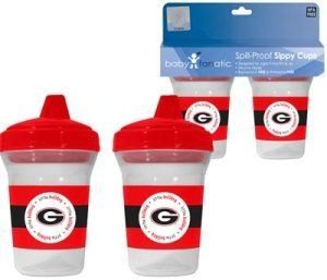 Georgia Bulldogs UGA NCAA Baby Sippy Cup   2 Pack Sports