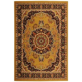 Paterson Collection Oriental Medallion Gold Area Rug (49 x 7