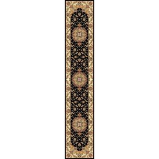 Lyndhurst Collection Traditional Black/ Ivory Runner (2 3 x 16)