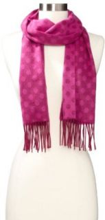 Amicale Womens Polka Dot Scarf, Pink, One Size Clothing