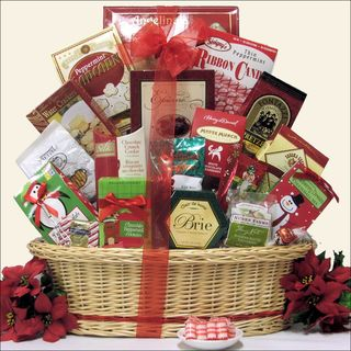 Tidings of Joy Large Gourmet Holiday Christmas Gift Basket