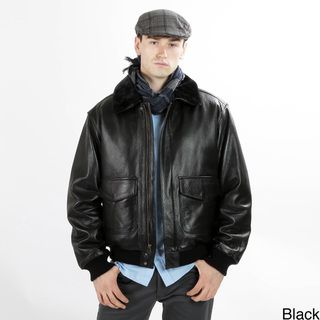 United Face Mens Military G1 Leather Flight Bomber Jacket