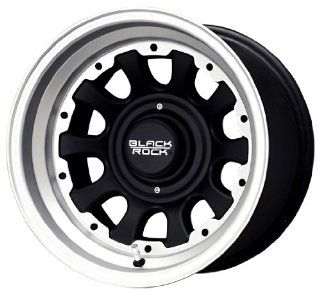 Black Rock Type D Alloy 909 Tungsten and Matte Black Wheel (15x8