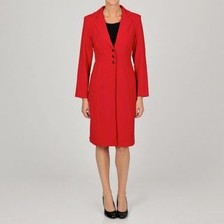 Danny & Nicole Womens Sheath Dress with Coordinating Red Jacket