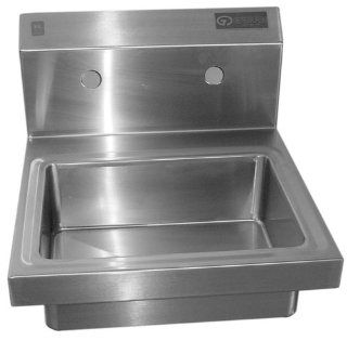 Griffin H60 128 Hand Wash Wall Mounted Sink, Stainless Steel