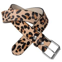 Journee Collection Womens Leopard Print Belt