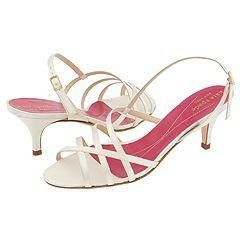 Kate Spade Emily Ivory Satin Sandals