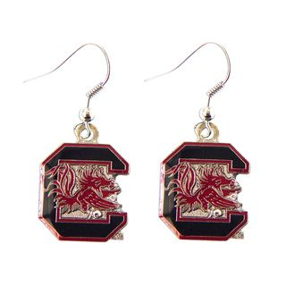 South Carolina Gamecocks Dangle Logo Earring Set
