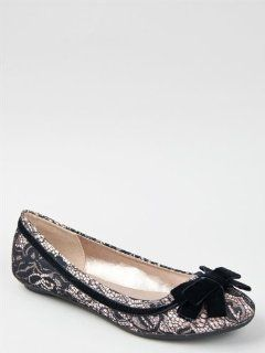 Qupid SAVANA 147 Bow and Lace Satin Slip On Ballet Flat ZOOSHOO Shoes