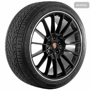 22 Inch black 170 Series Wheels Rims and Tires for Porsche