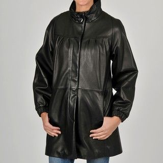 Tibor Womens Leather Swing Jacket