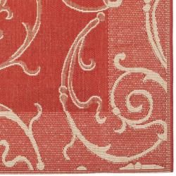 Red/ Natural Indoor Outdoor Rug (8 x 112)