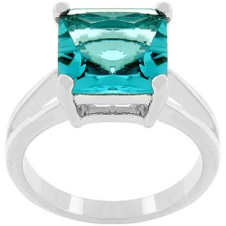 Kate Bissett Silvertone Blue Lagoon Cubic Zirconia Ring