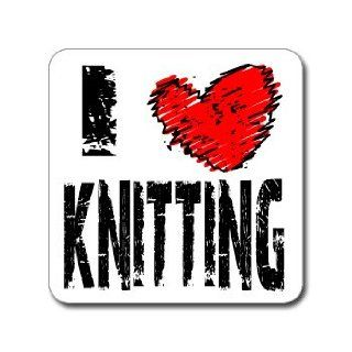 Love Heart KNITTING   Window Bumper Laptop Sticker