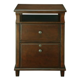 Cherry Wood Two Drawer File Cabinet