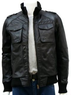 Xport Designs Mens Stylish Bomber Leather Jacket