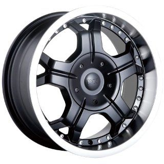 17 Inch 17x8 Ion Alloy wheels STYLE 191 Black w/ Machined Lip wheels
