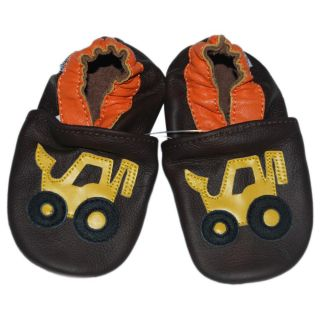 Baby Pie Brown Truck Leather Infant Shoes