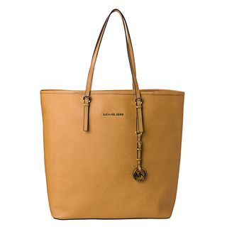 MICHAEL Michael Kors Jet Set Large Mustard Saffiano Leather Travel