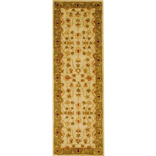 Indo Mahal Hand Tufted Ivory Runner Rug (26 x 8)