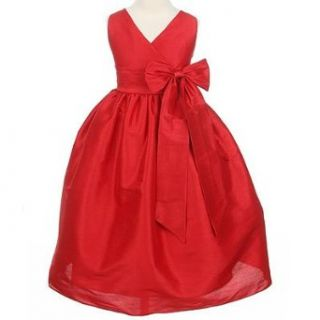 Sweet Kids Girls Red Bow Flower Girl Special Occasion