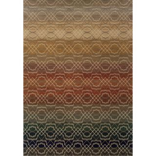 Indoor Grey Multicolored Geometric Area Rug (53 X 76) Today $283.99