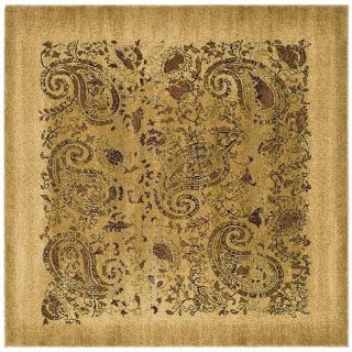 Lyndhurst Collection Paisley Beige/ Multi Rug (8 Square)