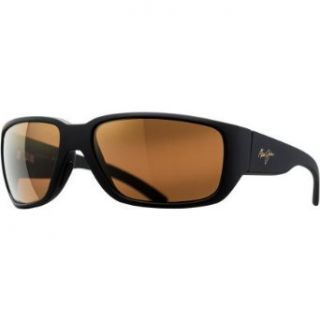 Maui Jim 38102 02MR Black Matte Seawall Rectangle