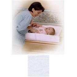Simmons White Knit Contoured Changing Pad Cover   2 PACK