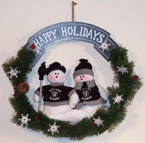 OAKLAND RAIDERS NFL Football Snowman Holiday CHRISTMAS