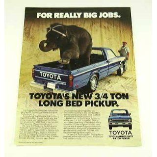 1979 79 TOYOTA 3/4 Ton Long Bed PICKUP Truck BROCHURE
