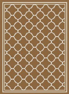 Safavieh Courtyard Collection CY6918 242 Brown and Ivory