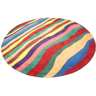 Indo Hand tufted Multicolor Rug (9 Round)